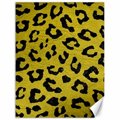 Skin5 Black Marble & Yellow Leather (r) Canvas 18  X 24
