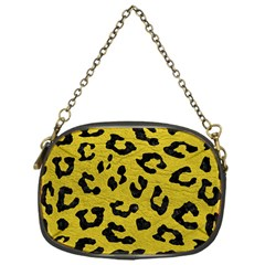 Skin5 Black Marble & Yellow Leather (r) Chain Purses (one Side)