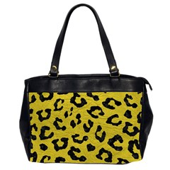 Skin5 Black Marble & Yellow Leather (r) Office Handbags (2 Sides)