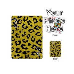Skin5 Black Marble & Yellow Leather (r) Playing Cards 54 (mini)