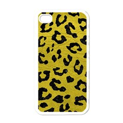 Skin5 Black Marble & Yellow Leather (r) Apple Iphone 4 Case (white)