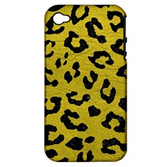 Skin5 Black Marble & Yellow Leather (r) Apple Iphone 4/4s Hardshell Case (pc+silicone)