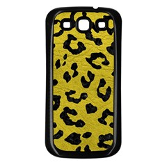 Skin5 Black Marble & Yellow Leather (r) Samsung Galaxy S3 Back Case (black)