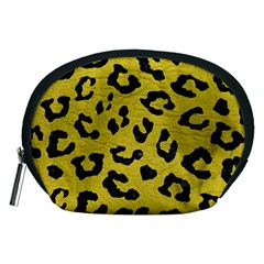 Skin5 Black Marble & Yellow Leather (r) Accessory Pouches (medium)