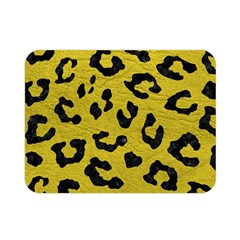 Skin5 Black Marble & Yellow Leather (r) Double Sided Flano Blanket (mini)