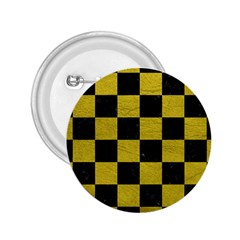 Square1 Black Marble & Yellow Leather 2 25  Buttons