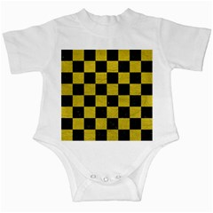 Square1 Black Marble & Yellow Leather Infant Creepers
