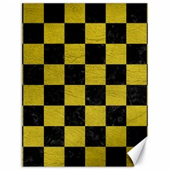 Square1 Black Marble & Yellow Leather Canvas 18  X 24