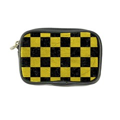 Square1 Black Marble & Yellow Leather Coin Purse