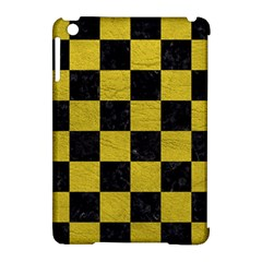 Square1 Black Marble & Yellow Leather Apple Ipad Mini Hardshell Case (compatible With Smart Cover)