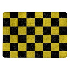 Square1 Black Marble & Yellow Leather Samsung Galaxy Tab 10 1  P7500 Flip Case
