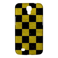 Square1 Black Marble & Yellow Leather Samsung Galaxy Mega 6 3  I9200 Hardshell Case
