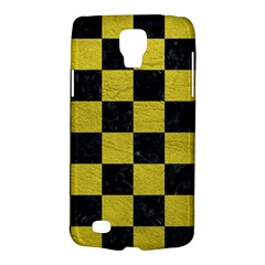 Square1 Black Marble & Yellow Leather Galaxy S4 Active
