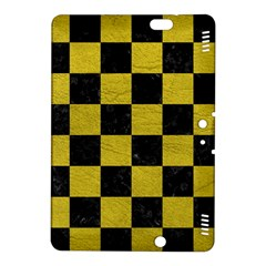 Square1 Black Marble & Yellow Leather Kindle Fire Hdx 8 9  Hardshell Case