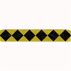 Square2 Black Marble & Yellow Leather Small Bar Mats