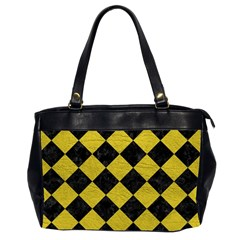 Square2 Black Marble & Yellow Leather Office Handbags (2 Sides)
