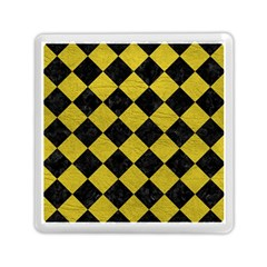 Square2 Black Marble & Yellow Leather Memory Card Reader (square)