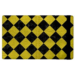 Square2 Black Marble & Yellow Leather Apple Ipad 2 Flip Case