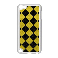 Square2 Black Marble & Yellow Leather Apple Ipod Touch 5 Case (white)