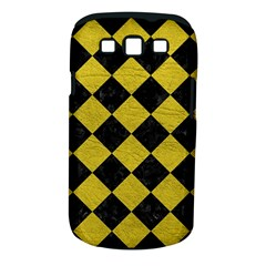 Square2 Black Marble & Yellow Leather Samsung Galaxy S Iii Classic Hardshell Case (pc+silicone)