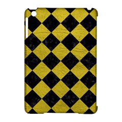 Square2 Black Marble & Yellow Leather Apple Ipad Mini Hardshell Case (compatible With Smart Cover)