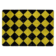 Square2 Black Marble & Yellow Leather Samsung Galaxy Tab 10 1  P7500 Flip Case