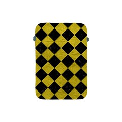 Square2 Black Marble & Yellow Leather Apple Ipad Mini Protective Soft Cases