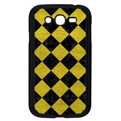 Square2 Black Marble & Yellow Leather Samsung Galaxy Grand Duos I9082 Case (black)