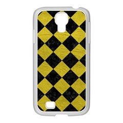 Square2 Black Marble & Yellow Leather Samsung Galaxy S4 I9500/ I9505 Case (white)