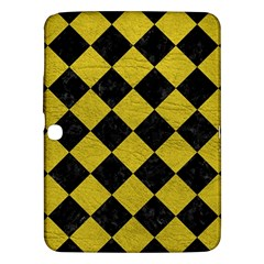 Square2 Black Marble & Yellow Leather Samsung Galaxy Tab 3 (10 1 ) P5200 Hardshell Case