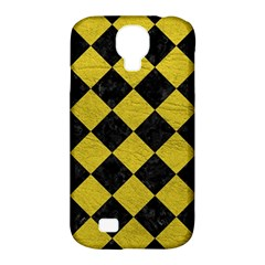 Square2 Black Marble & Yellow Leather Samsung Galaxy S4 Classic Hardshell Case (pc+silicone)
