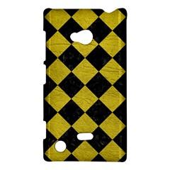 Square2 Black Marble & Yellow Leather Nokia Lumia 720