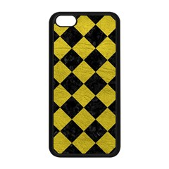 Square2 Black Marble & Yellow Leather Apple Iphone 5c Seamless Case (black)