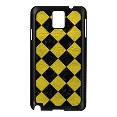 Square2 Black Marble & Yellow Leather Samsung Galaxy Note 3 N9005 Case (black)