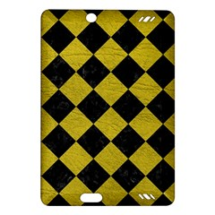 Square2 Black Marble & Yellow Leather Amazon Kindle Fire Hd (2013) Hardshell Case