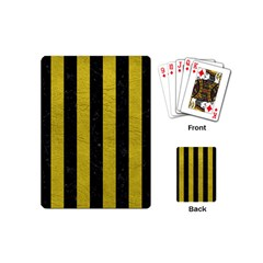 Stripes1 Black Marble & Yellow Leather Playing Cards (mini)