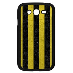 Stripes1 Black Marble & Yellow Leather Samsung Galaxy Grand Duos I9082 Case (black)