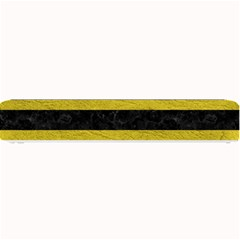 Stripes2 Black Marble & Yellow Leather Small Bar Mats