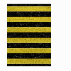 Stripes2 Black Marble & Yellow Leather Large Garden Flag (two Sides)