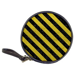 Stripes3 Black Marble & Yellow Leather Classic 20 Cd Wallets