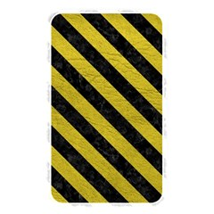 Stripes3 Black Marble & Yellow Leather Memory Card Reader