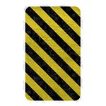 STRIPES3 BLACK MARBLE & YELLOW LEATHER Memory Card Reader Front