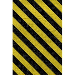 Stripes3 Black Marble & Yellow Leather 5 5  X 8 5  Notebooks