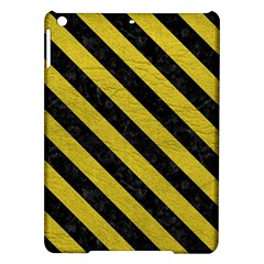 Stripes3 Black Marble & Yellow Leather Ipad Air Hardshell Cases