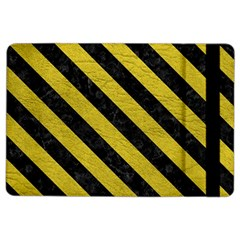 Stripes3 Black Marble & Yellow Leather Ipad Air 2 Flip