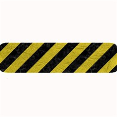 Stripes3 Black Marble & Yellow Leather (r) Large Bar Mats