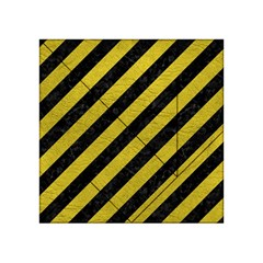Stripes3 Black Marble & Yellow Leather (r) Acrylic Tangram Puzzle (4  X 4 )