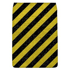 Stripes3 Black Marble & Yellow Leather (r) Flap Covers (l)