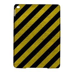 Stripes3 Black Marble & Yellow Leather (r) Ipad Air 2 Hardshell Cases