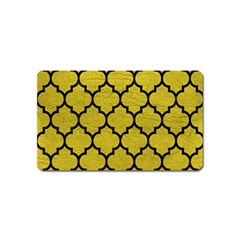 Tile1 Black Marble & Yellow Leather Magnet (name Card)